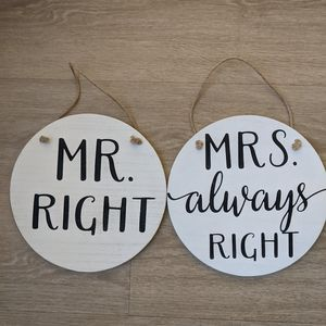 Cute Wooden Signs for Couple